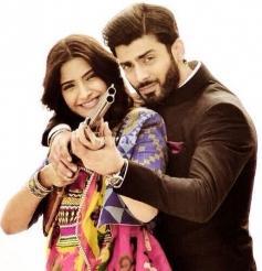 Sonam Kapoor on the sets of Khoobsurat