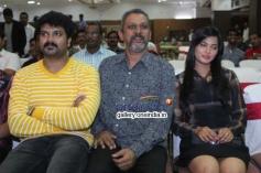 Srujan Lokesh, Pavana at Typical Kailas Film Press Meet