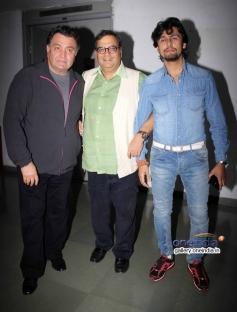 Subhash Ghai with Rishi Kapoor and Sonu Nigam at Kaanchi film media interaction