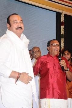 Suresh and Nassar at Saivam audio launch