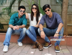 Tanuj Virwani, Aditya Seal and Izabelle Leite at Fever 104 FM