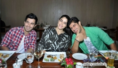 Tanuj Virwani, Aditya Seal and Izabelle Leite at Neel restaurant