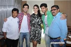 Tanuj Virwani, Aditya Seal and Izabelle Leite promote Purani Jeans at Neel restaurant
