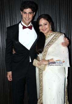 Tanuj Virwani with his mother Rati Agnihotri at Purani Jeans film music launch