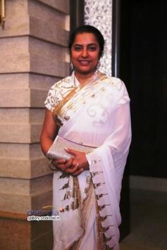 Suhasini Maniratnam at Raja and Amritha Marriage Reception
