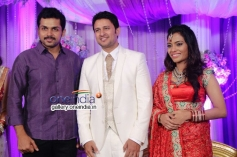 Karthik Sivakumar at Actor Raja and Amritha Marriage Reception