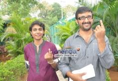 Telugu celebs vote for Lok Sabha Election 2014