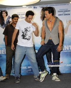 Tiger Shroff dances with a man on World Dance Day