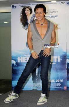 Tiger Shroff during the film Heropanti promotion on World Dance Day