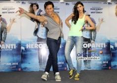 Tiger Shroff and Kriti Sanon promote Heropanti on World Dance Day