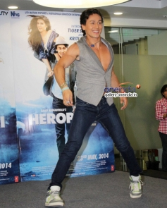 Tiger Shroff performs during the film Heropanti promotion on World Dance Day
