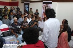 Upendra answering the media people questions at film Uppi 2 audio recording