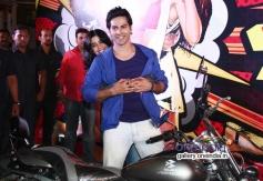 Varun Dhawan and Ekta Kapoor promotes Main Tera Hero by riding a bike