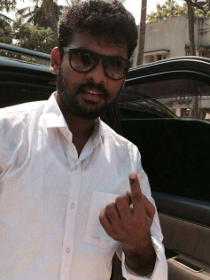 Vimal casted his vote