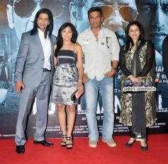Vipino, Roopali Krishnarao, Suniel Shetty and Purva Parag at Koyelaanchal film trailer launch