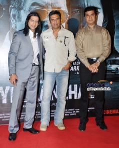 Vipino, Suniel Shetty and Asshu Trikha at Koyelaanchal film trailer launch