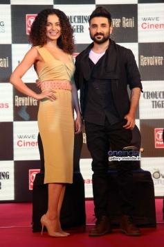 Vir Das with Kangna Ranaut at press conference of film Revolver Rani