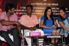Vishal, Iniya and Lakshmi Menon at Naan Sigappu Manithan press meet