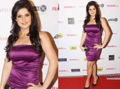 Zarine Khan Sports in Shorts Dress