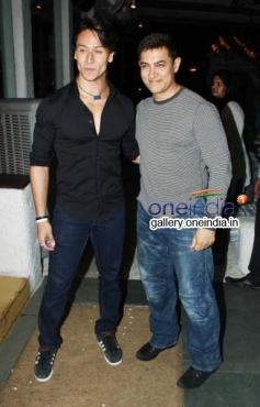 Tiger Shroff,Aamir Khan at Heropanti Success Bash