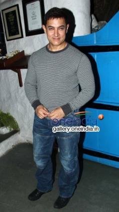 Actor Aamir Khan at Heropanti success Bash