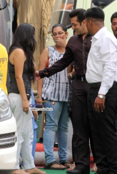 Actor Salman Khan Snapped at Mehbob Studio Bandra