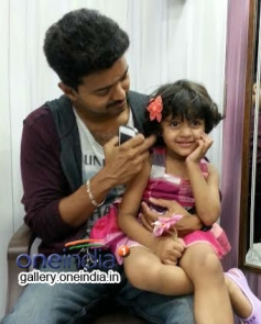 Actor Vijay with Mukund's Three year old daughter Arshea