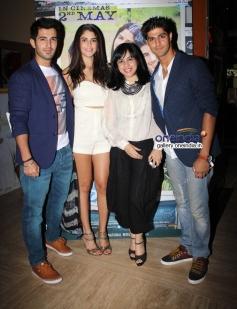 Aditya Seal, Izabelle Leite and Tanuj Virwani at Purani Jeans film screening