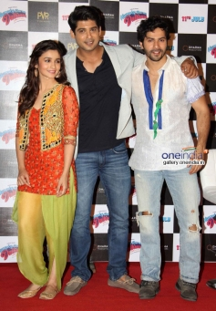 Alia Bhatt ,Siddharth Shukla and  Varun Dhawan at Humpty Sharma ki Dulhania First Look Launch