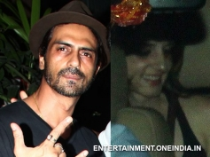Arjun Rampal and Sussanne snapped at resturant in Bandra