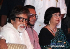 BIG B and Gulshan Grover at Leader film first look launch