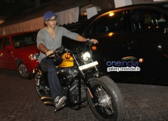 Dino Morea snapped biking in Bandra