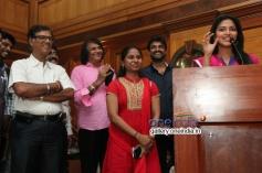 Director A. L. Vijay and Actress Amala Paul Press Meet Images