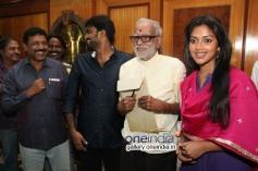 Director A. L. Vijay and Actress Amala Paul Press Meet Still