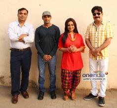 Diyva Dutta and Yashpal Sharma at Manjunath film media interactions