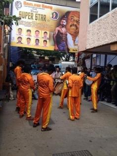 Fans Celebration for Kochadaiyaan Movie at Kaasi Theater