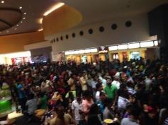 Fans waiting for Kochadaiiyaan show in Dubai