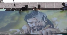 Fans Pour Milk on Kochadaiyaan Poster
