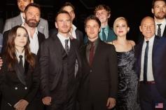 Full cast of xmen at X Men Days of Future Past Premiere Show
