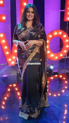 Hema Choudhary on the sets of NDTV Ticket to Bollywood