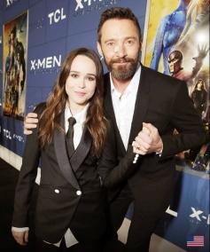 Hugh Jackman and Ellen Page at X Men Days of Future Past Premiere Show
