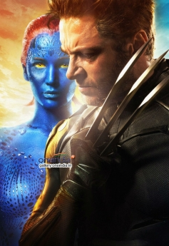 Hugh Jackman and Jennifer Lawrence in X Men Days of Future Past