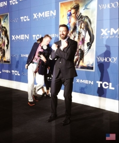 Hugh Jackman at X Men Days of Future Past Premiere Show