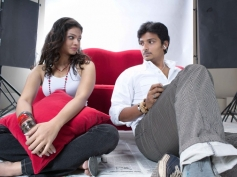 Jeeva and Anuya Bhagvath pic from Rangam Modalaindi