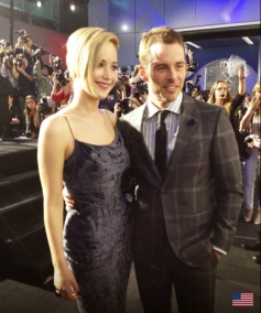 Jennifer Lawrence and James marsden at X Men Days of Future Past Premiere Show