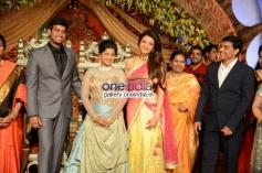 Kajal Aggarwal at Dil Raju Daughter Wedding Reception