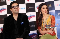 Karan Johar and Alia Bhatt at Humpty Sharma ki Dulhania First Look Launch