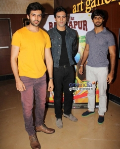 Kartik Tiwari and Anshuman Jha at Yeh Hai Bakrapur film premiere