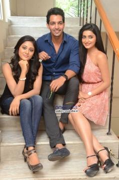 Sushma Raj, Harshvardhan Rane and Avanthika at Maaya Movie First Look Launch