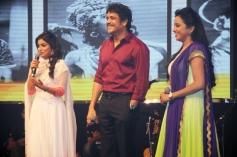 Shriya, Nagarjuna and Suma at Manam Movie Audio Celebrations